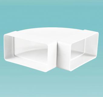 Колено горизонтальное 90° для плоских каналов
