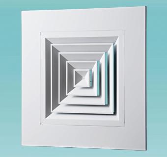 Диффузоры потолочные панельные ДПп