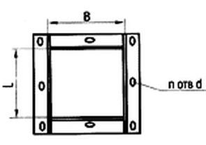 Фланцы  для воздуховодов прямоугольные сварные (из уголка)