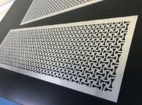 Решетка декоративная накладная из стали по эскизам