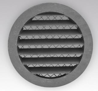Наружная приточно-вытяжная алюминиевая решетка с фланцем РКМ